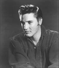 black and white pic of ElvisPresley