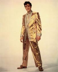 Elvis Presley in gold suite