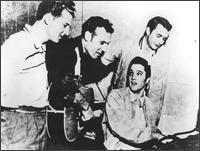 Elvis Presley practacing with his band