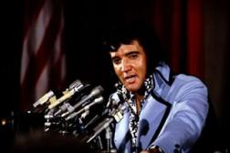 Elvis at a press conference