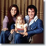 Elvis with Lisa and Priscilla
