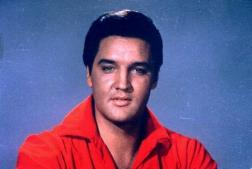 photo of Elvis in red
