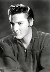 protrait of young Elvis