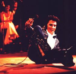 Elvis falling on stage